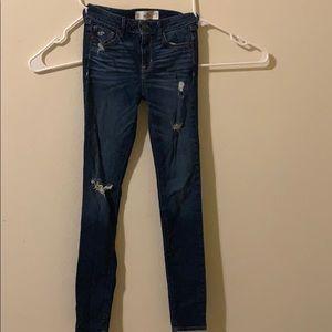 Hollister dark ripped jeans